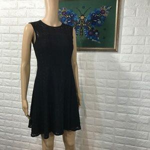 Nanette Lepore Black Eyelet Dress size 4